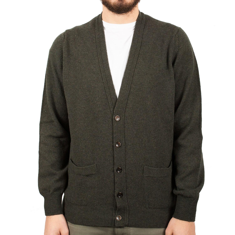 Hawick Knitwear Men's Lambswool Knitted Long Sleeve V-Neck ...